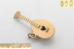 RARE-VINTAGE-HM-18ct-SOLID-GOLD-3D-MANDOLIN-CHARM-2-78-g