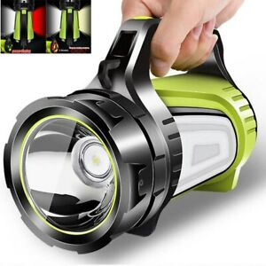 LED Searchlight Spotlight USB Rechargeable Hand Torch Work Light Lamp Camping