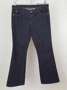 Eddie-Bauer-Dark-Denim-Specially-Dyed-Boot-Cut-Blue-Jeans-Petite-Sz-10-10P