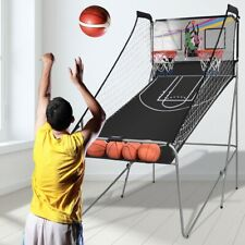 LED Electronic Basketball Double Shot Hoops Dual Player 4 Balls Kid Toys Home