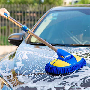 Adjustable-Telescopic-Car-Wash-Chenille-Mop-Wiping-Soft-Cleaning-Brush-Tool
