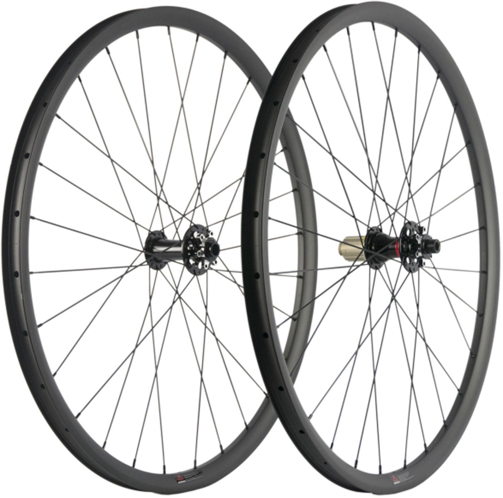 MTB Mountain Cykel 27.5  29ER Carbon Wheelset Mountain Cykel 6 Bolt Axle 142 12mm
