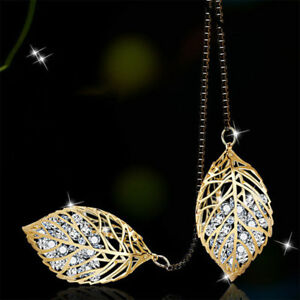 Fashion-Rhinestone-Leaf-Pendant-Necklace-Long-Sweater-Chain-Jewelry-For-Women