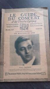 Revista Le Guía de La Concierto Y Las Sketches Letra 1927 N º 16 S. Dushkin