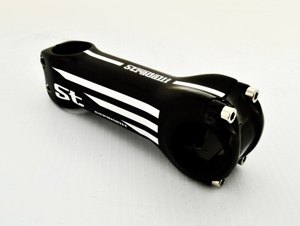 STRADALLI CYCLING FULL CARBON FIBER ROAD BICYCLE HANDLEBAR STEM WHITE 100MM