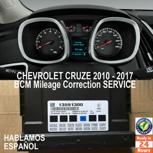 Image Is Loading Chevrolet Cruze 2010 2017 Bcm Ecu Mileage Correction