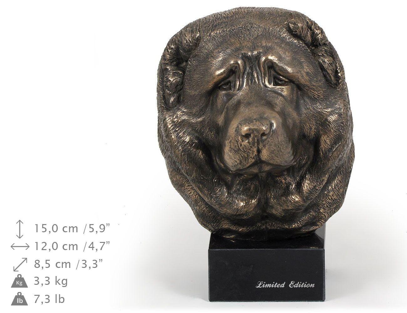 Caucasian Shepherd Dog - dog figurine on the marble base, high quality Art Dog
