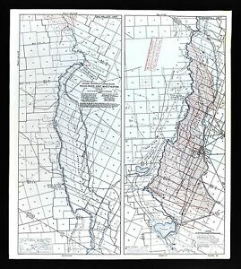 Details About 1940 Pecos River Texas Map Water Table Depths Wells Grand Falls Royalty
