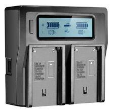 Digital LCD Dual Ladegerät Für Sony NP-F550 NP-F570 NP-F770 NP-F970 Batterien UK