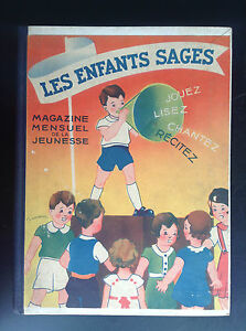 TRES-RARE-Recueil-Reliure-Les-enfants-sages-1934-Le-Monnier-Gougeon-Ducatez-For