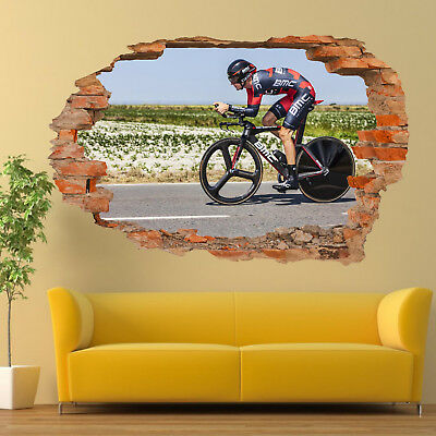 OFFROAD MOTOCROSS JUMP WALL STICKERS 3D ART MURAL POSTERS OFFICE SHOP DECOR UV7