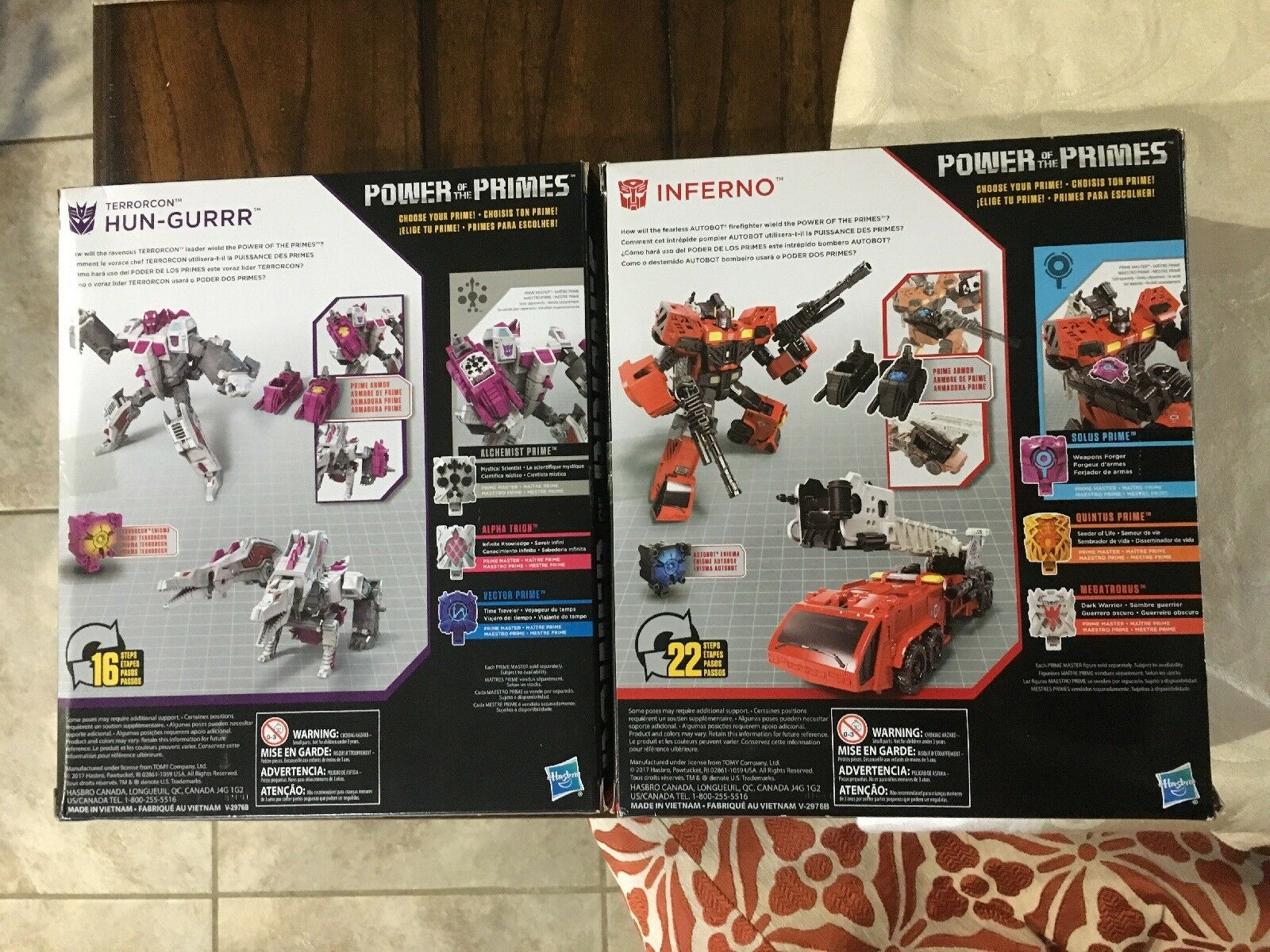 Hasbro Transformers POTP Power of the the the Primes Voyager Inferno + Hun-Gurrr 0c88b6