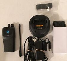 Motorola Pr400 Uhf 16 Channel Two Way Radio With New Accessories