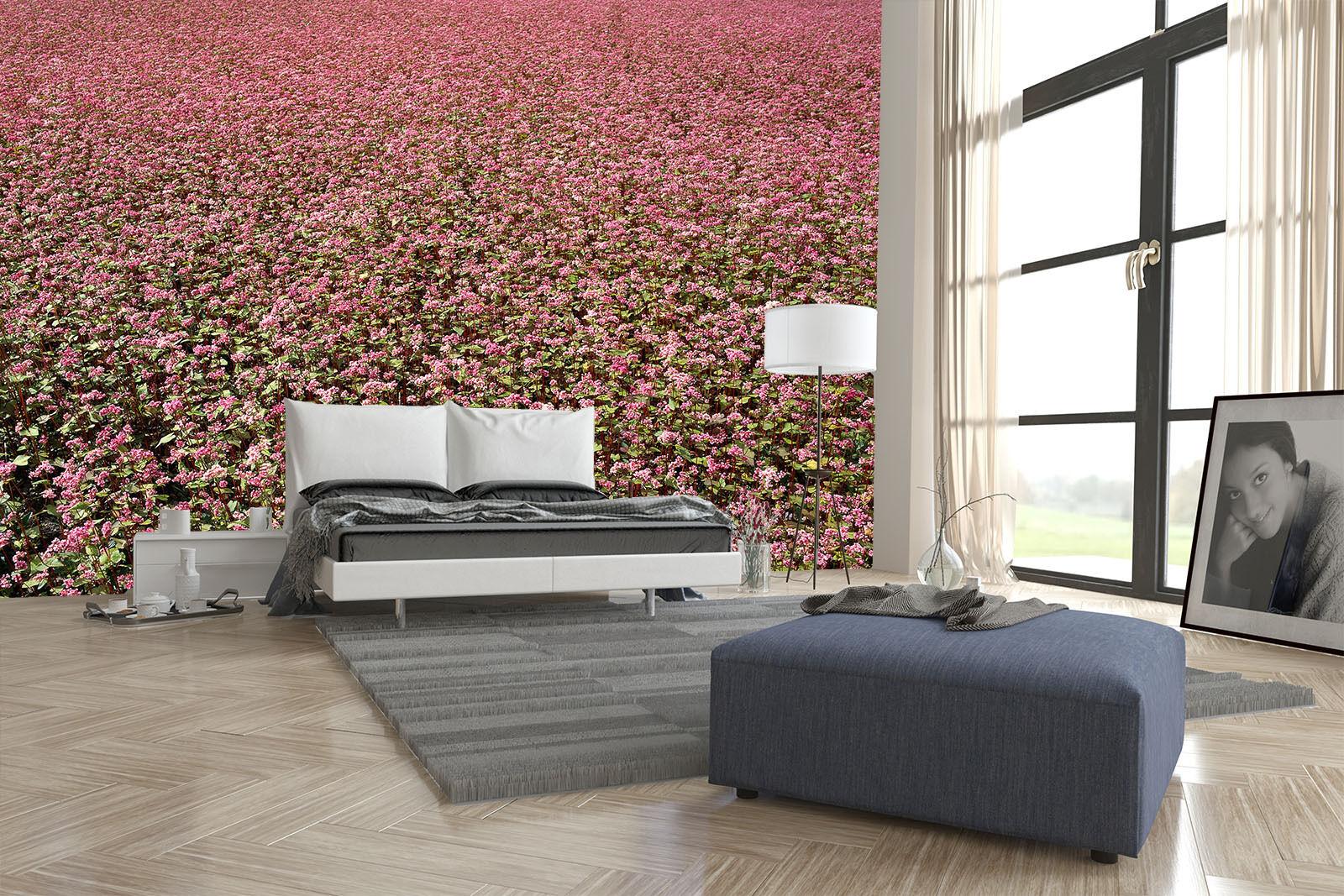 3D pink großen Garten 0098 Fototapeten Wandbild Fototapete BildTapete Familie