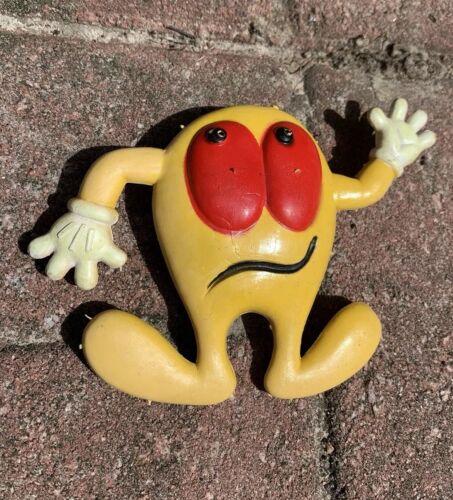 Vintage 1980 Ben Cooper PAC-MAN Rubber Figure Yellow