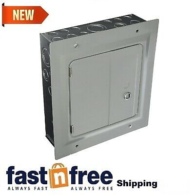 Electric Circuit Breaker Panel 6 Space Circuit Surface Mount Panel With Cover