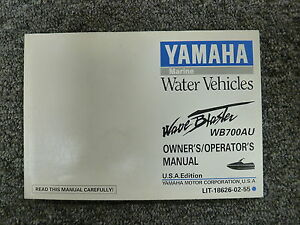 yamaha model wb700au wave blaster jet ski owner owner s manual user rh ebay com 1999 yamaha jet ski owners manual 2017 Yamaha Jet Ski