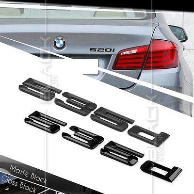 Matte Black Trunk Emblem Badge Letters for BMW E60 E61 F10 F11 5-Series 545i 545
