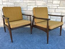 Pair of Mid Century Danish Modern Kofod Larsen Style Lounge Chairs