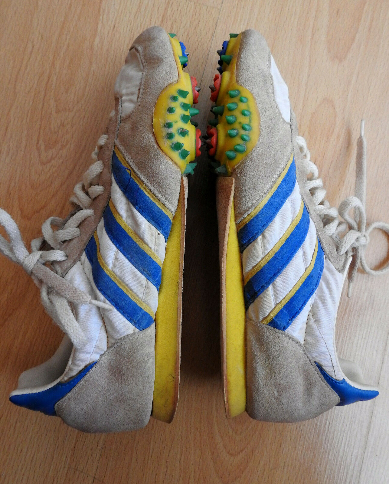 1970's Vintage Adidas Spikes Athletic Track & Field Running shoes Yugoslavia