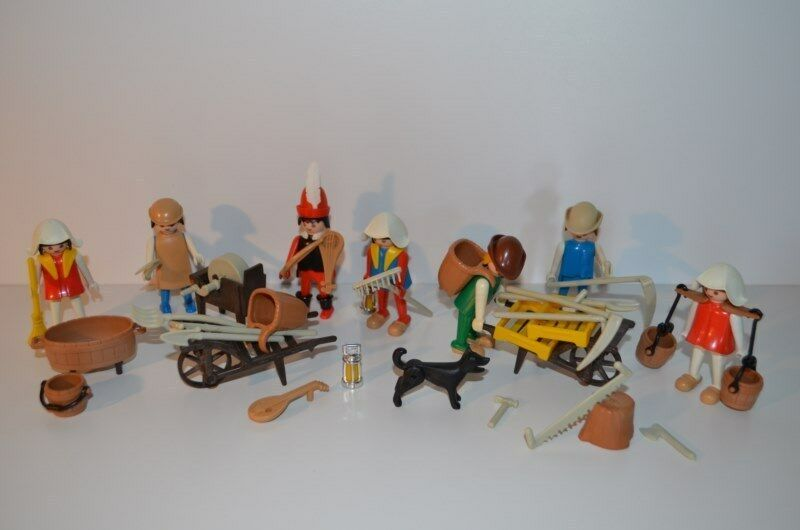 8448 playmobil farmer set 3411 complete - medieval klicky vintage