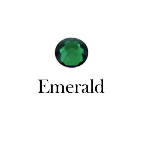 100 revisión no Reverso Plano Cristal Diamanté Pedrería 3 4 y 5 mm Verde Esmeralda