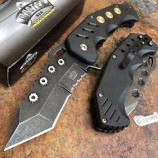 Master USA Assisted Open Stonewash Blade Bullet Outdoor Tactical Pocket Knife