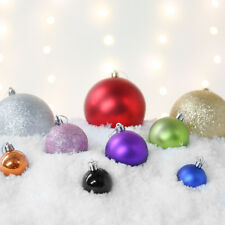 12 Pack 4cm Shatterproof Christmas Tree Bauble Decorations | Glitter Shiny Matte