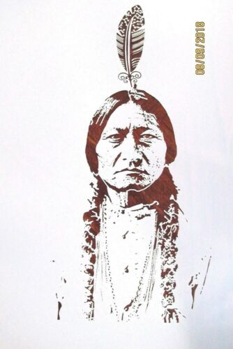 Sitting Bull Stencil//Template Reusable 10 mil Mylar