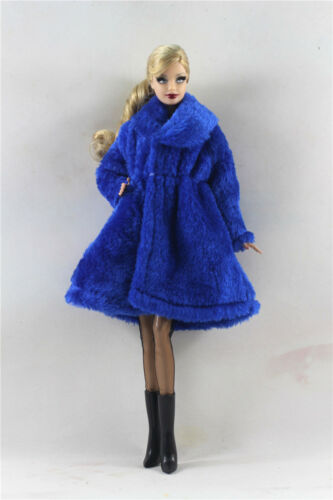 Lovely Fashion Winter fur Coats Clothes//Outfit+boots+socks For 11.5in.Doll C036