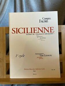 Fauré Sicilienne quatuor de flute et piano ad. lib. partition éditions Hamelle