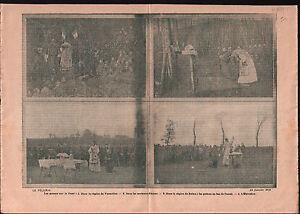 """WWI Poilus Aumonier Militaire Vermelles Arras Reims Autel War 1915 ILLUSTRATION - France - Commentaires du vendeur : """"OCCASION"""" - France"""