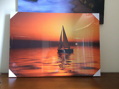 BOAT SEA SAILING SUNSET NEW GIANT POSTER WALL ART PRINT PICTURE G112