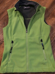Rei Women S Green Sleeveless Fleece Vest Size Small Zip