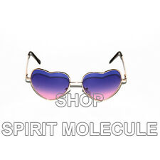 Heart Shaped Purple Pink Gradient Aviators Sunglasses Shades Wire Frame