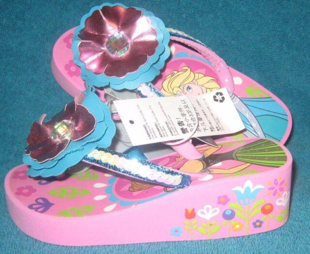 NWT Disney Store Frozen Elsa Anna Flip Flops Sandals Shoes Girls Many sizes