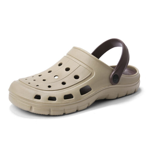 Mens Beach Strappy Flats Non-slip Soft Slipppers Hollow out Sandals Shoes Casual