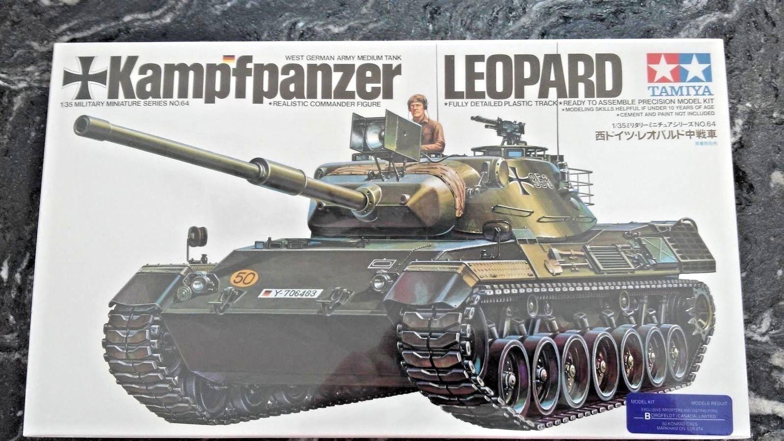 TAMIYA 1 35 GERMAN KAMPFPANZER LEOPARD PLASTIC TANK MODEL KIT ITEM  F S