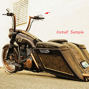 Motorcycle Cruiser Chopper Rearview Mirrors For Harley Davidson Fat Boy Fatboy Ebay