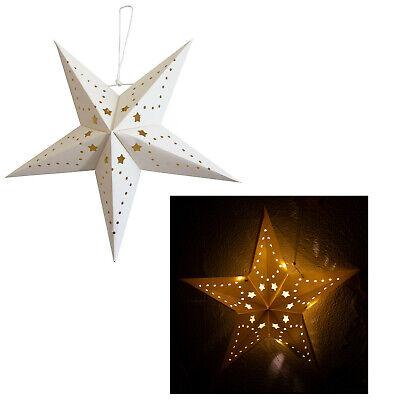 Stern aus Papier 4 x LEDs zum Hängen Ø 45 cm Leuchtstern Papierstern Sterndeko