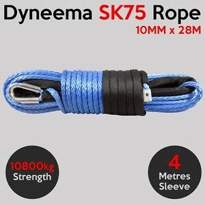 10MM-X-28M-Dyneema-SK75-Winch-Rope-Synthetic-Car-Tow-Recovery-Offroad-Cable-4X4