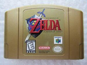 Details about Legend of Zelda Ocarina of Time Gold Video Game RPG OEM  Nintendo 64 N64 GREAT!
