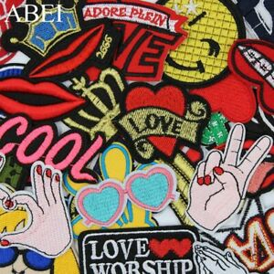 30pcs-lot-Mix-Embroidered-Cartoon-Patches-Quality-Fashion-Iron-On-Jeans-Stickers
