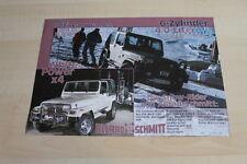 105017) Jeep Wrangler 4.0 Pistenraupe - Allrad-Schmitt - Prospekt 11/1990