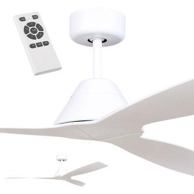 Fanco Eco Breeze Dc Ceiling Fan With Remote White 52 Modern Bedroom Fan Ebay