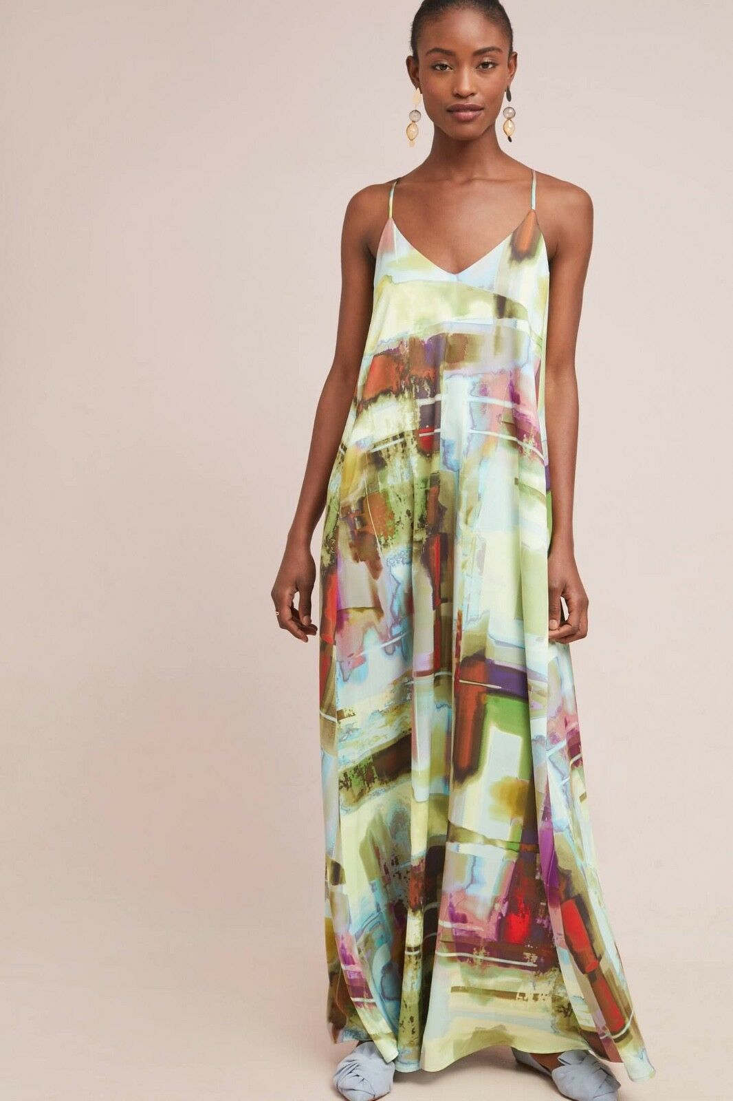 NWT  Anthropologie Daylight Maxi Dress By Nicole Miller Sz. 4 Petite RARE