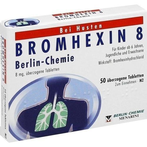 BROMHEXIN 8 Berlin Chemie überzogene Tabletten 50 St PZN 4394361