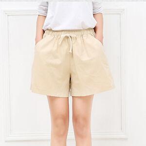 Women-Cotton-Linen-Casual-Lounge-Shorts-Sport-Jogging-Hot-Pants-Loose-Drawstring
