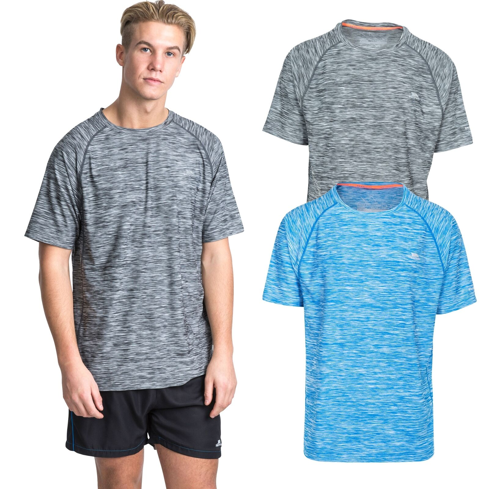 Trespass Mens Gaffney Quick Dry T-Shirt for Men//Gents//Adults for Gym//Active//Yoga//Pilates//Sports//Running//Cycling