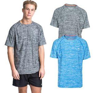 Trespass-Gaffney-Mens-Active-Top-Short-Sleeve-in-Blue-amp-Grey